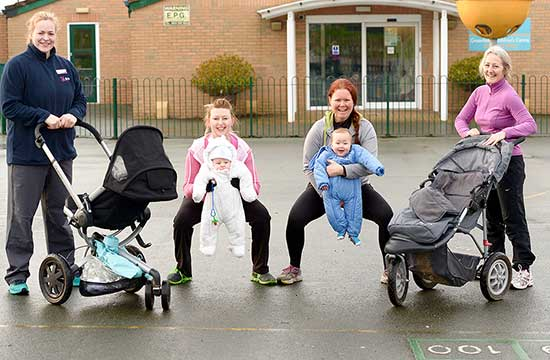 Winsford's 'pushy mums' in fitness craze!