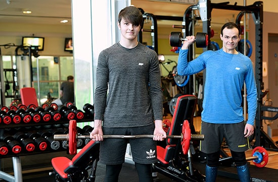 Flab to abs for Winsford brothers!