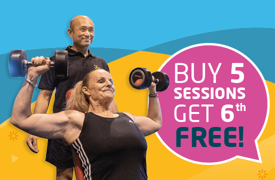 Buy 5 PT sessions get the 6th FREE!